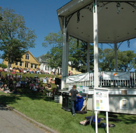 Heritage Bandstand and Crowd