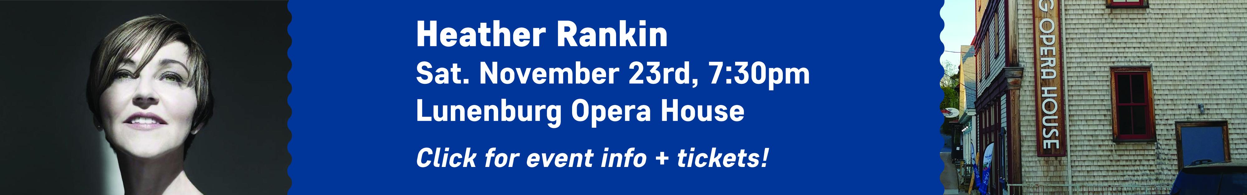 Heather Rankin - Lunenburg Opera House